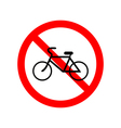 No bicycle bike prohibited symbol vector image vector image