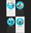 office work and business idea vertical posters vector image vector image