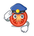 police character tomato slices for food decor vector image vector image