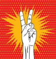 POPART FIST11 vector image vector image