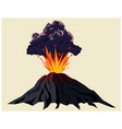 powerful volcanic eruption vector image vector image
