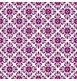 purple abstract damask pattern background vector image