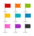 realistic 3d detailed color flags icons set vector image vector image