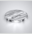 realistic coin vector image vector image