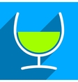 Remedy Glass Flat Square Icon with Long Shadow vector image