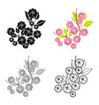 sakura flowers icon in cartoon style isolated on vector image vector image