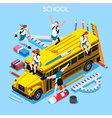 School Set 06 People Isometric vector image vector image