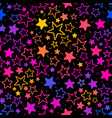 seamless background with bright stars vector image