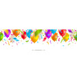 seamless banner with multicolored balloons vector image vector image