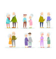 set cute and lovely old vector image