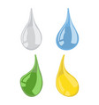 set of drops vector image