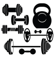 silhouettes of weights vector image vector image