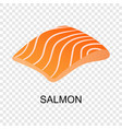 slice of salmon icon isometric style vector image vector image