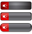 Sound button set vector image vector image