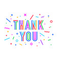 thank you greeting card banner poster for vector image