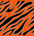 tiger fur terracotta orange skin texture seamless vector image