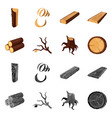 tree and raw symbol set of vector image vector image