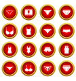 underwear items icon red circle set vector image vector image