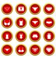 Underwear items icon red circle set