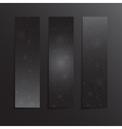 Vertical Rectangle Black Banners Snow Winter vector image vector image