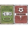 vintage grunge soccer game posters vector image vector image