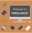 welcome to freelance desktop creative elements 4 vector image vector image