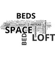 who should i buy a loft bed text word cloud vector image vector image