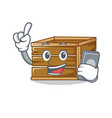 with phone crate character cartoon style vector image vector image