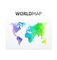 World map of rainbow color vector image vector image