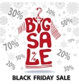 Big Sale letteringTee Shirt Black friday vector image vector image