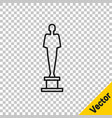 black line movie trophy icon isolated on vector image vector image