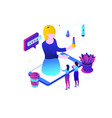 blogging online - modern colorful isometric vector image vector image