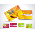 business-card or vip-card set vector image vector image