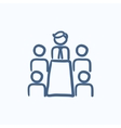 Business meeting in the office sketch icon vector image vector image