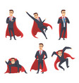 businessman superheroes office managers directors vector image