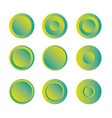 button round with gradient set vector image vector image