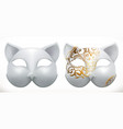 cat mask 3d icon vector image