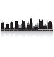 Columbus USA city skyline silhouette vector image vector image