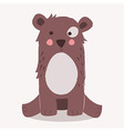 cute brown bear sitting vector image