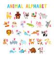 cute cartoon animals alphabet for children