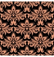Dark damask seamless floral pattern vector image