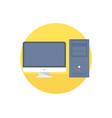 desktop icon sign symbol vector image vector image
