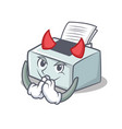 devil printer mascot cartoon style vector image vector image