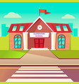 elementary school flat buildung back to vector image vector image
