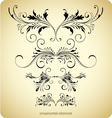 Floral borders vintage design vector