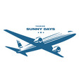 flying an airplane trip white background vector image