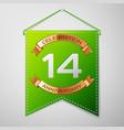 fourteen years anniversary celebration design vector image vector image