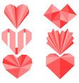 geometry hearts vector image vector image