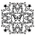 graphic element butterfly with flourishes 2 vector image vector image