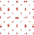 grow icons pattern seamless white background vector image vector image